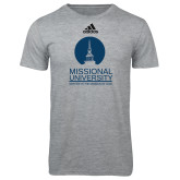 Adidas Sport Grey Logo T Shirt-Missional University Stacked
