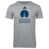 Adidas Sport Grey Logo T Shirt-Missional University Stacked