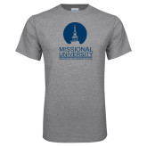 Grey T Shirt-Missional University Stacked