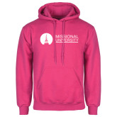 Fuchsia Fleece Hoodie-Missional University Flat