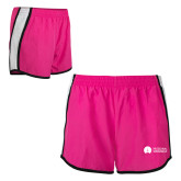 Ladies Fuchsia/White Team Short-Missional University Flat