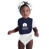 Navy Baby Bib-Missional University Stacked
