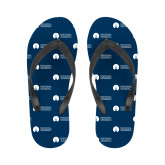 Ladies Full Color Flip Flops-Missional University Flat