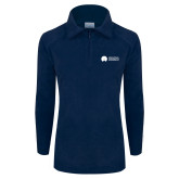 Columbia Ladies Half Zip Navy Fleece Jacket-Missional University Flat