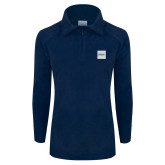Columbia Ladies Half Zip Navy Fleece Jacket-Missional University Box