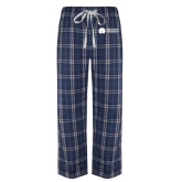 Navy/White Flannel Pajama Pant-Missional University Flat