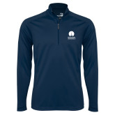 Syntrel Navy Interlock 1/4 Zip-Missional University Stacked
