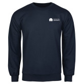 Navy Fleece Crew-Missional University Flat