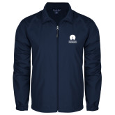 Full Zip Navy Wind Jacket-Missional University Stacked