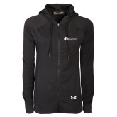 Ladies Under Armour Black Varsity Full Zip Hoodie-Missional University Flat