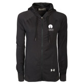 Ladies Under Armour Black Varsity Full Zip Hoodie-Missional University Stacked