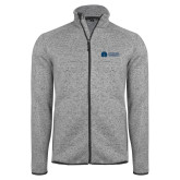 Grey Heather Fleece Jacket-Missional University Flat
