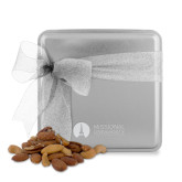 Deluxe Nut Medley Silver Medium Tin-Missional University Flat Engraved