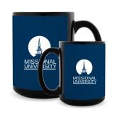 Full Color Black Mug 15oz-Missional University Stacked