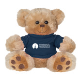 Plush Big Paw 8 1/2 inch Brown Bear w/Navy Shirt-Missional University Flat