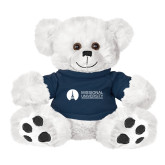 Plush Big Paw 8 1/2 inch White Bear w/Navy Shirt-Missional University Flat