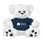 Plush Big Paw 8 1/2 inch White Bear w/Navy Shirt-Missional University Flat