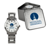 Mens Stainless Steel Fashion Watch-Missional University Stacked