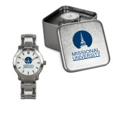 Ladies Stainless Steel Fashion Watch-Missional University Stacked