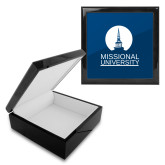 Ebony Black Accessory Box With 6 x 6 Tile-Missional University Stacked