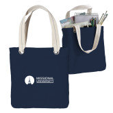 Allie Navy Canvas Tote-Missional University Flat
