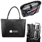 Sophia Checkpoint Friendly Black Compu Tote-Missional University Flat