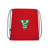 State Red Drawstring Backpack-VS