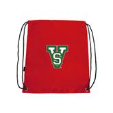 State Red Drawstring Backpack-VS
