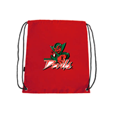 State Red Drawstring Backpack-Devils