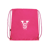 State Pink Drawstring Backpack-VS