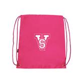 State Pink Drawstring Backpack-VS