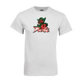 State White T Shirt-Devils