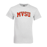 State White T Shirt-Arched MVSU