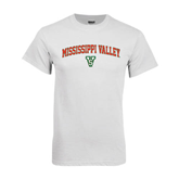 State White T Shirt-Arched Mississippi Valley