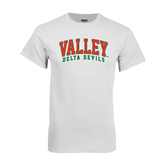 State White T Shirt-Arched Valley Delta Devils