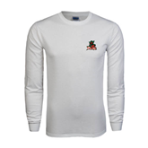 State White Long Sleeve T Shirt-Devils