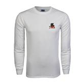 State White Long Sleeve T Shirt-Devils