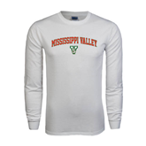 State White Long Sleeve T Shirt-Arched Mississippi Valley