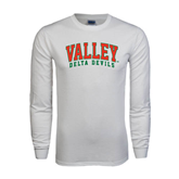 State White Long Sleeve T Shirt-Arched Valley Delta Devils