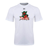 State Under Armour White Tech Tee-Devils