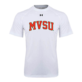 State Under Armour White Tech Tee-Arched MVSU