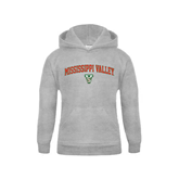 State Youth Grey Fleece Hood-Arched Mississippi Valley