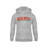 State Youth Grey Fleece Hood-Arched Delta Devils