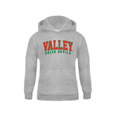 State Youth Grey Fleece Hood-Arched Valley Delta Devils