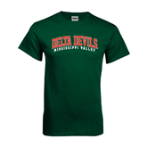 State Dark Green T Shirt-Arched Delta Devils