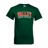 State Dark Green T Shirt-Arched Valley Delta Devils