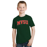 State Youth Dark Green T Shirt-Arched MVSU