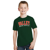 State Youth Dark Green T Shirt-Arched Valley Delta Devils