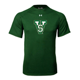 State Under Armour Dark Green Tech Tee-VS