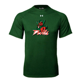State Under Armour Dark Green Tech Tee-Devils